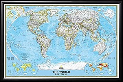Amazon Com Push Pin Map National Geographic Classic World Map In