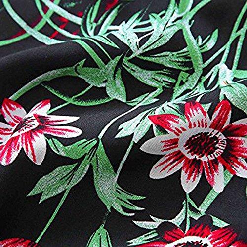 de Chic Robe Femme Soire Noir Robe Femme Floral Robe Lache Femme Robe Ourlet Col Femme Plage Weant a Robe Ete U de Imprim 4qIHYw4E