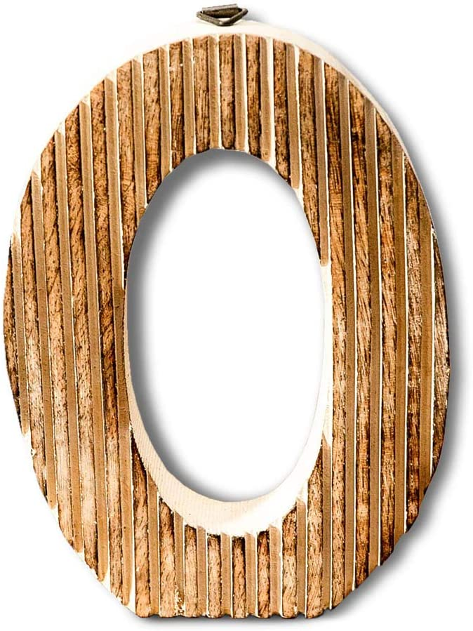Kaizen Casa Hand Carved Wooden Alphabet Wall Décor/Free Standing O Letter