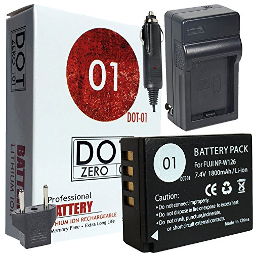 DOT-01 Brand Fujifilm X-A5 Battery for Fujifilm X-A5 Mirrorless and Fujifilm X-A5 Battery Bundle for Fujifilm NPW126 NP-W126 by DOT-01