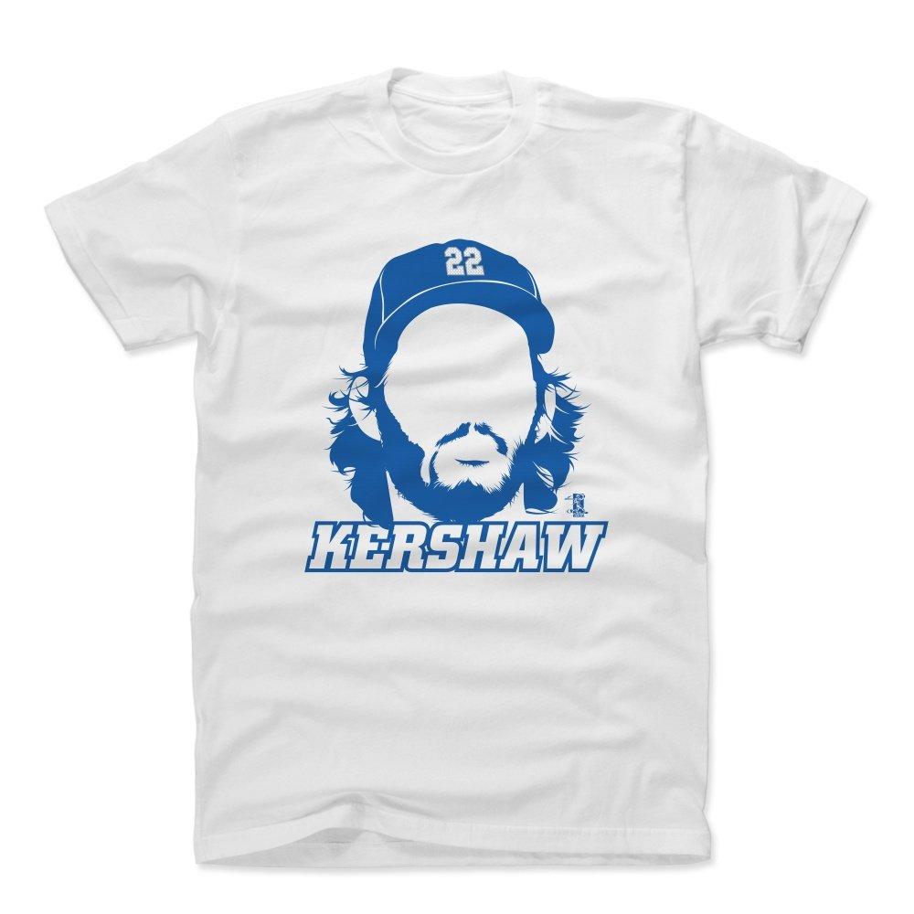 500レベルのクレイトンのKershawコットンTシャツ – Los Angeles野球ファンギアの公式ライセンスMLB Players Association – クレイトンKershawシルエットB B073T6Z3HL ホワイト L