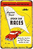 1953 Martinsville Speedway Stock Car Race Vintage Look Reproduction Metal Sign 8x12 8121639