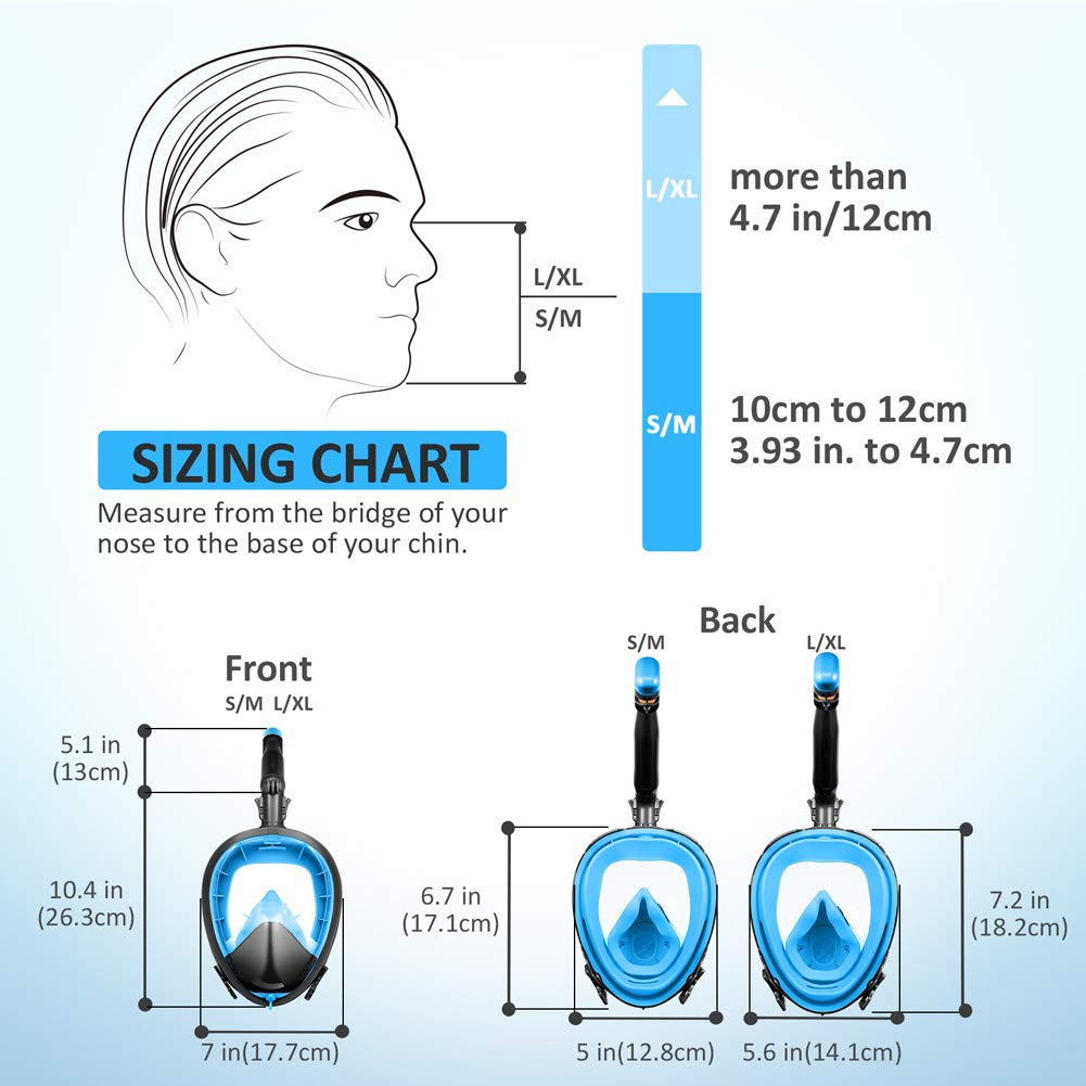 M/áscara de esn/órquel de cara completa m/áscara de esn/órquel Joso con el m/ás nuevo sistema de respiraci/ón f/ácil y segura tubo de rotaci/ón m/ás largo 360 /° Antivaho 180 /° panor/ámic