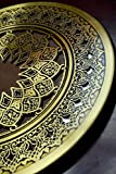Round Mirror with Islamic Andalusian Craved Copper Frame, Home Wall Décor, Wall Hanging, Ornate Frame Mirror