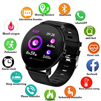 Amazon.com: Smartwatch for Android Phones iOS 2019 ...