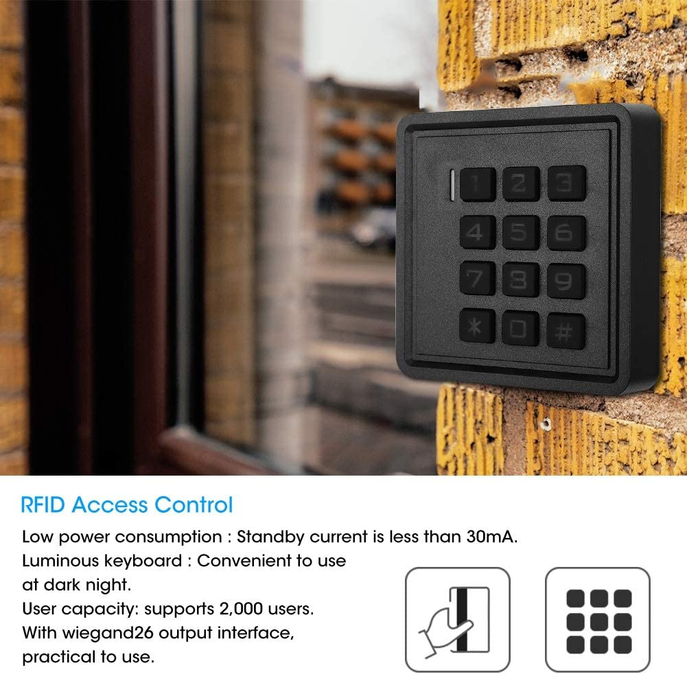 Luminous Keyboard Homes Residence Community for Hotels Access Control Public Buildings Offices Cuque Door RFID Reader Intelligent Keypad Door Entry