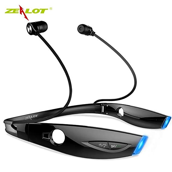 6b580f018150b5 Image Unavailable. Image not available for. Color: Zealot H1 Stereo Sport Bluetooth  Headset Wireless Foldable Headphone ...