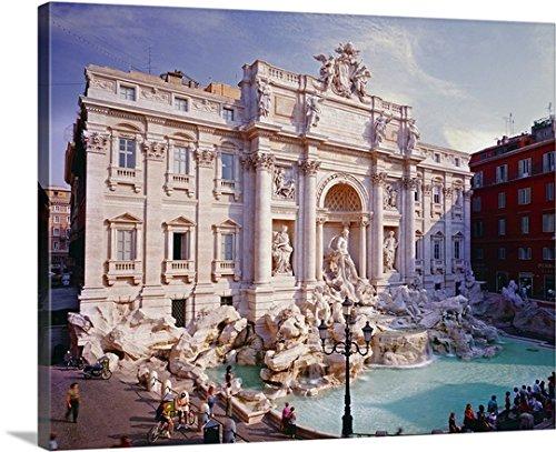 Giovanni Simeone Premium Thick-Wrap Canvas Wall Art Print Entitled Italy, Roma, Trevi Fountain, Fontana di Trevi