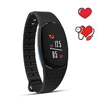 Fitness Armband Uhr mit Pulsmesser,iPosible Aktivitätstracker Wasserdicht Fitness Tracker Schrittzähler Herzfrequenzmonitor Smart ArmbandUhr Pulsuhren Schlafmonitor,GPS für Damen Herren iPhone Android