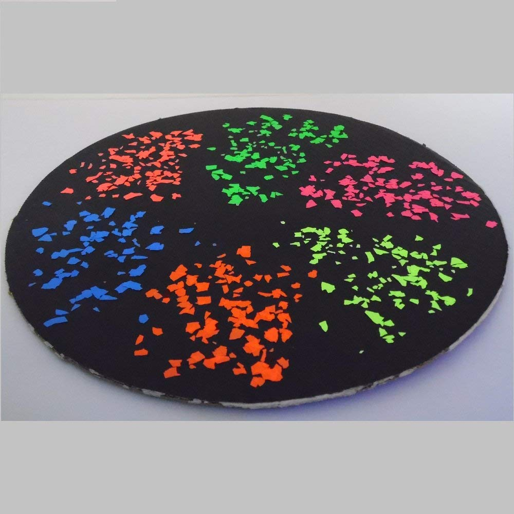 Amazon.com: 6 Colors UV Reactive Fluorescent Paint Flakes Sampler ...