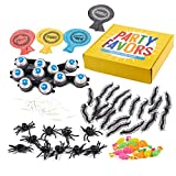 Blue Panda Toy Assortment 100-Count Set of Kids Party Favors, Prank Supplies, Including Whoopie Cushions, Fake Insects, Googly Eyes Glasses, Assorted Toys for Practical Jokes