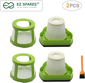 EZ SPARES 2pcs Replacements for Bisel,1782 Filter Hepa,Pet Hair Eraser Cordless Hand and Car Vacuum Attachment,Part #1608653(2Filters + 2Mesh Frame)