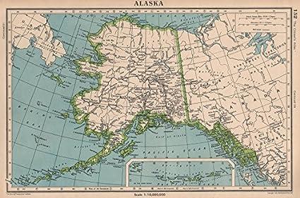 Amazon.com: Alaska. Railways. Mountains. Bartholomew - 1944 ...