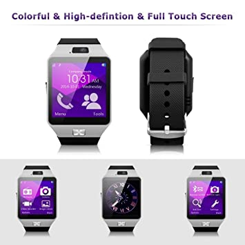 "EMC® Reloj Inteligente por Bluetooth Smart Watch Pulsera pantalla de 1.56"" con cámara 1"