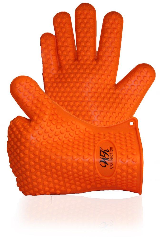 Wellsir Kitchen Highest Rated Premium Silicone BBQ Kitchen Grill Gloves Offer Superior Heat Resistance