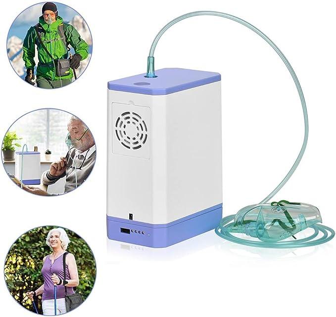 ZZYYZZ Concentrador de oxígeno portátil, máquina de oxígeno 6L ...