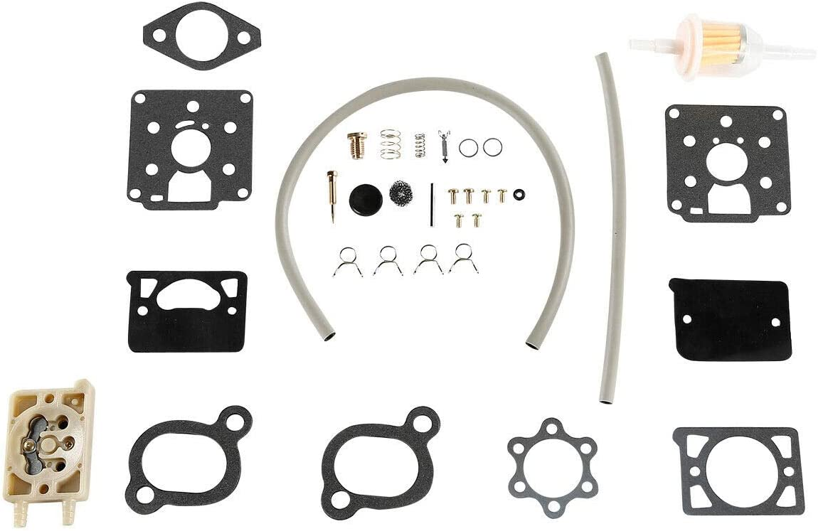 iFJF Carburetor Kit fits ONAN Engine Model DD11 DD13 DD15 With Fuel Pump BF BG B43M B48M Replaces Onan Kit 142-0570