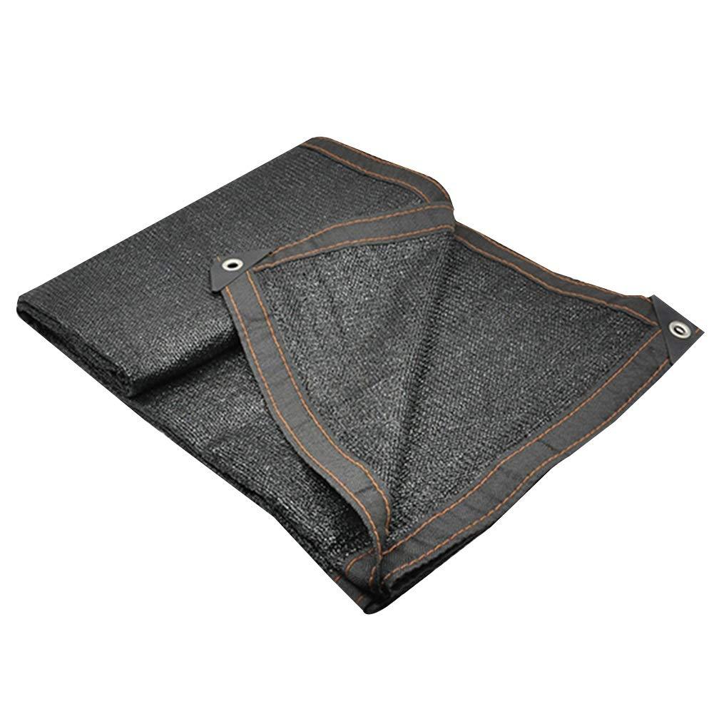noir 3x3m Yunyisujiao RenforceHommest des Bords Nets avec Un Trou en métal Un écran Solaire Durable Bonne Ventilation de la Fibre de Polyester extérieure Pleine d'entrain, 21 Verges (Couleur   noir, Taille   5x8m)