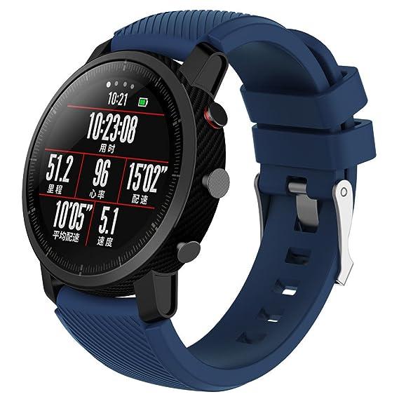 Huami Amazfit Stratos Smart Watch 2 Correa, Lanskirt Correa de Reloj Suave de Silicona Silicagel Pulsera de Moda para Reloj Deportivo Huami Amazfit Stratos ...