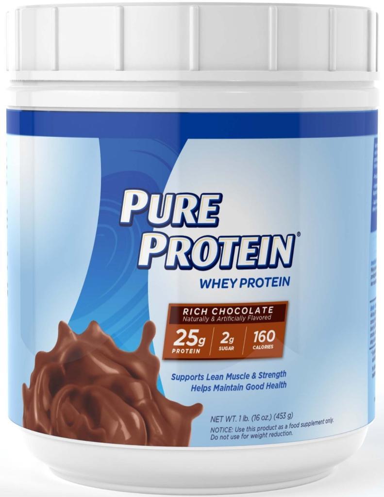 Amazon.com: Pure Protein Whey Protein Powder, Rich Chocolate, 1 Pound: Health & Personal Care