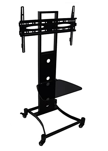 HEAVY DUTY Mobile TV Stand with Shelf & Wheels for: Amazon