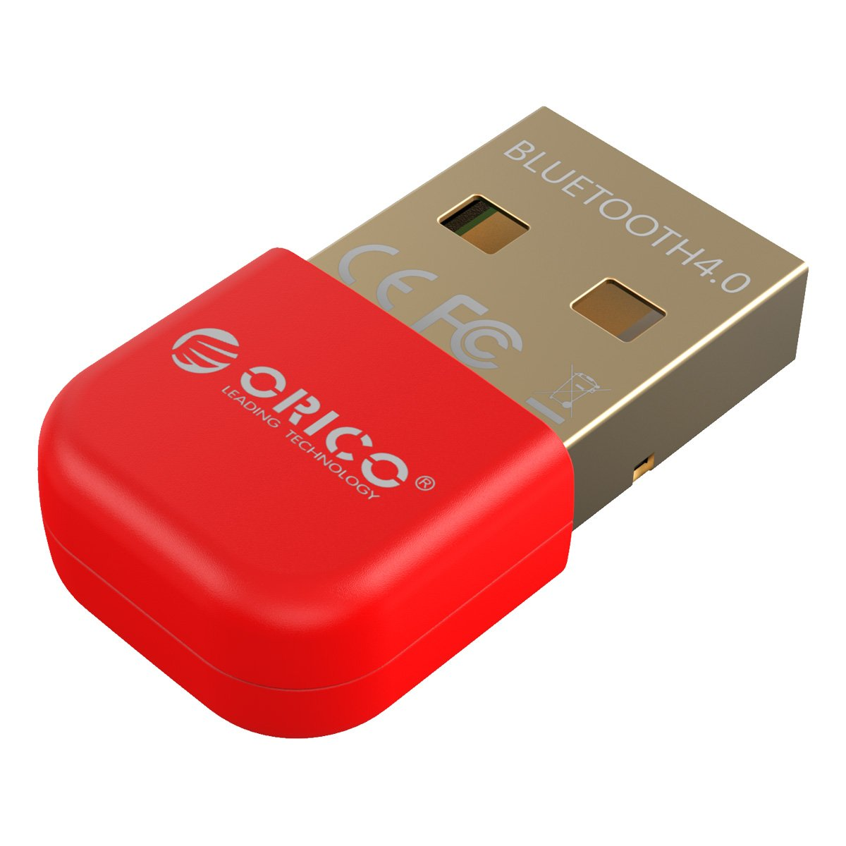 ORICO USB Bluetooth Adapter, Wireless Dongle for Windows XP/Vista / 7/8 / 10 [Ultra Mini and Low Energy, 3Mbps Data Transfer Rate and 20 meters Range, RED] ORICO BTA-403-RD