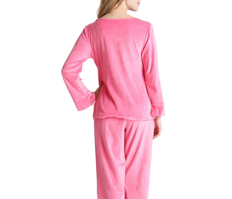 Pijama Suave Para Mujer rosa Noble Simple Juego Para De Pijama ...