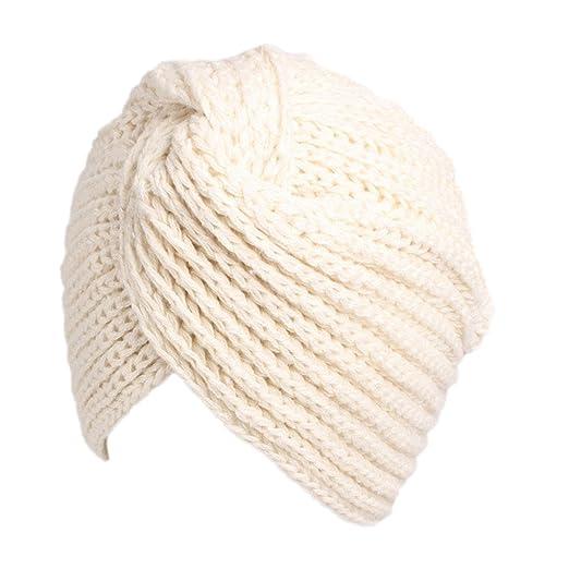 beauty YFJH Winter Hat Warm Knit Cap Beanie Sleep Chemo Turban Headwear Cancer  Patients (Beige 1291285c2d9