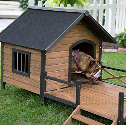 Dog Houses And Shelters : New dog house weather resistant wood large outdoor pet