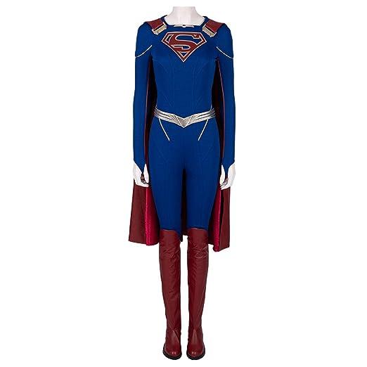 QWEASZER Disfraz de Supergirl Mujeres Superman Superhéroe ...