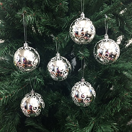 white and silver christmas ornaments amazoncom
