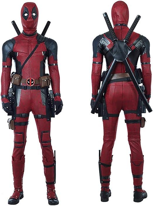 BLL Deadpool 2 Wade ·Wilson Mono de Cuero Cosplay, Disfraz de ...