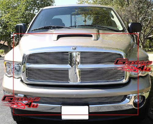APS Compatible with 2002-2005 Dodge Ram Pickup Billet Grille Combo D87999A