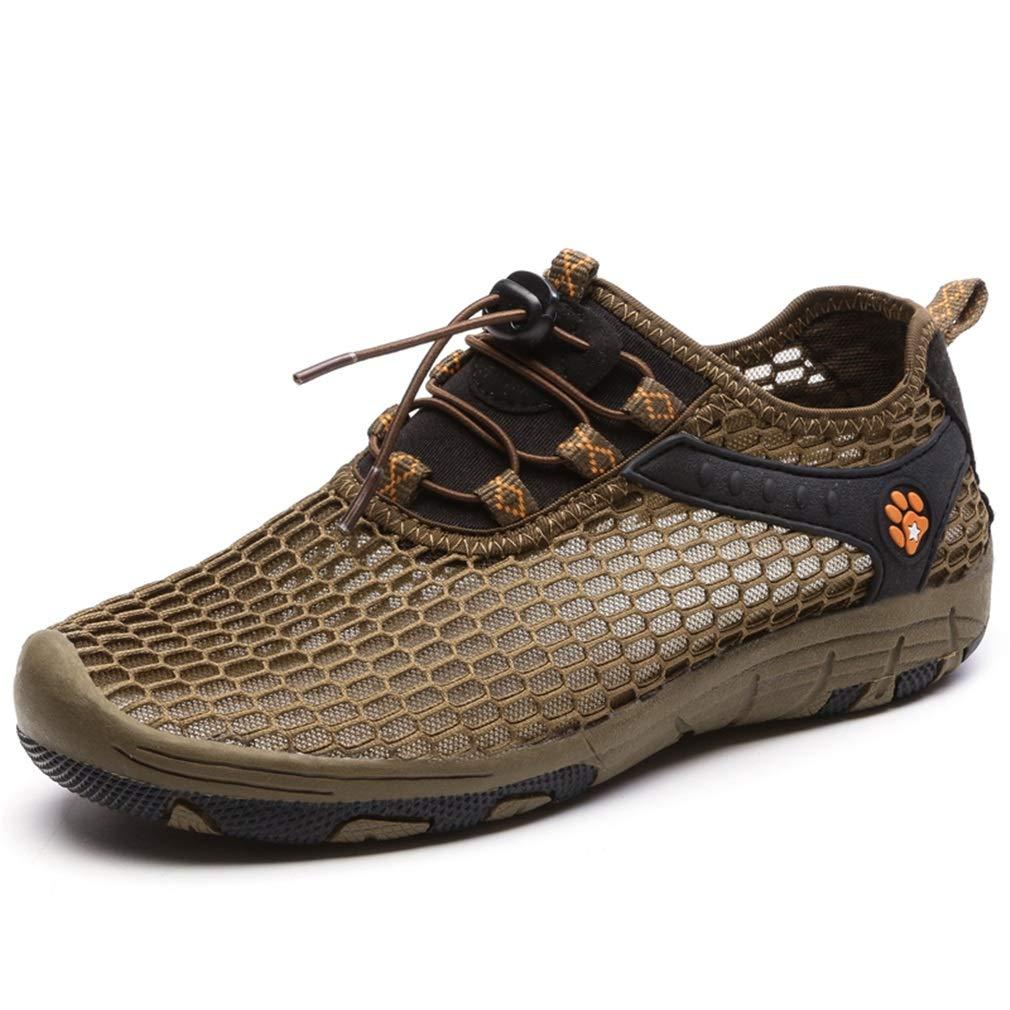 Damen Schuhe Sommer Breathable Turnschuhe Lace-up Anti-Rutsch-Outdoor Mesh Schuhe Liebhaber Reisen Schuhe (Farbe   EIN Größe   42)