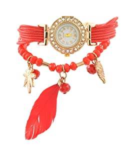 MJartoria Red Chili Dream Catcher Bracelet Watch Ladies Watch 19CM