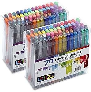 LolliZ Gel Pens 70 Pen Tray Set - Set of 4