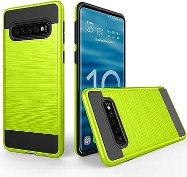 Funda estanca para teléfono móvil Caja del Teléfono De La Textura Cepillada PC + Caja Protectora De TPU For La Galaxia S10 + (Verde del Ejército) (Color : Green): Amazon.es: Electrónica