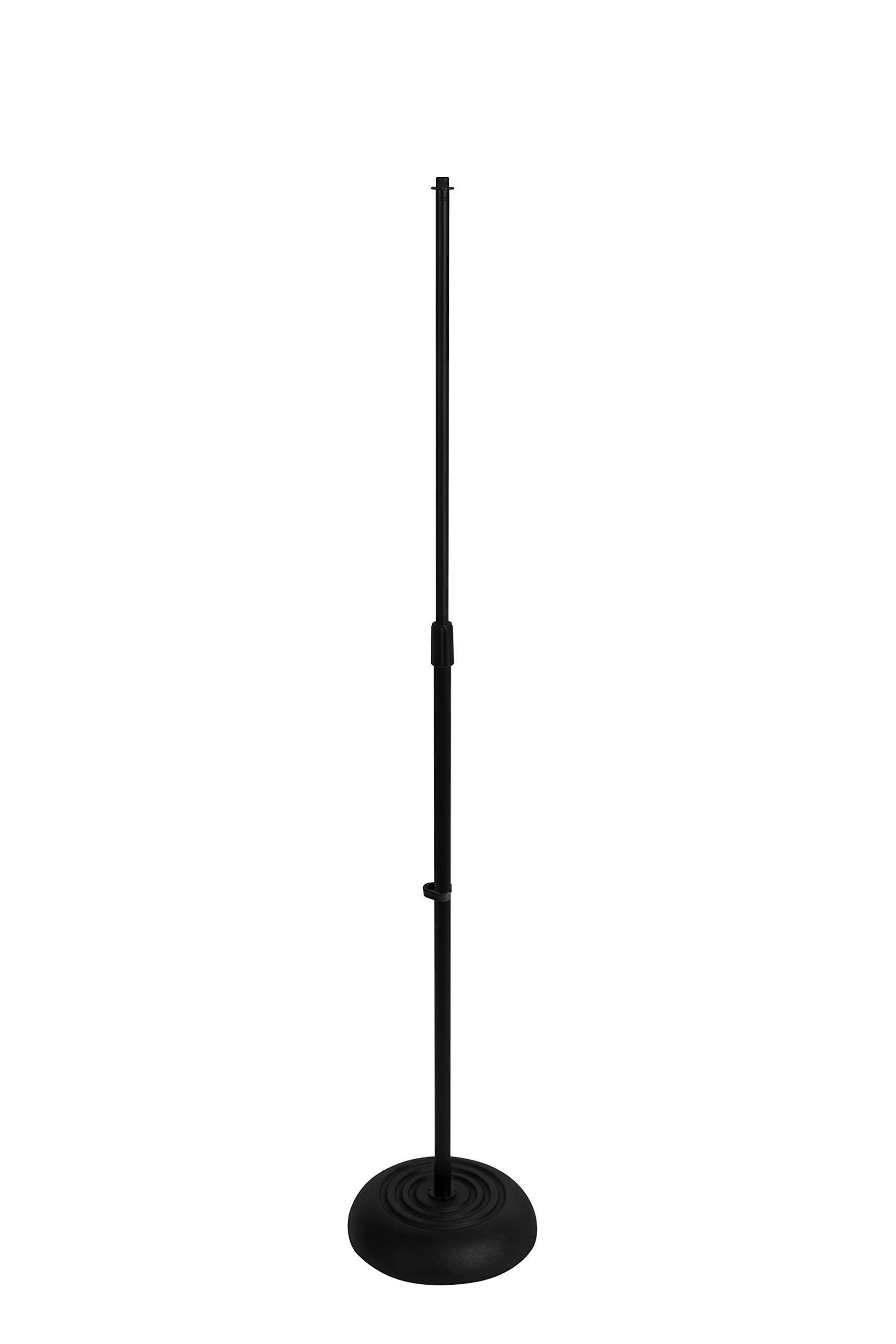 On Stage MS7201B Round Base Microphone Stand, Black