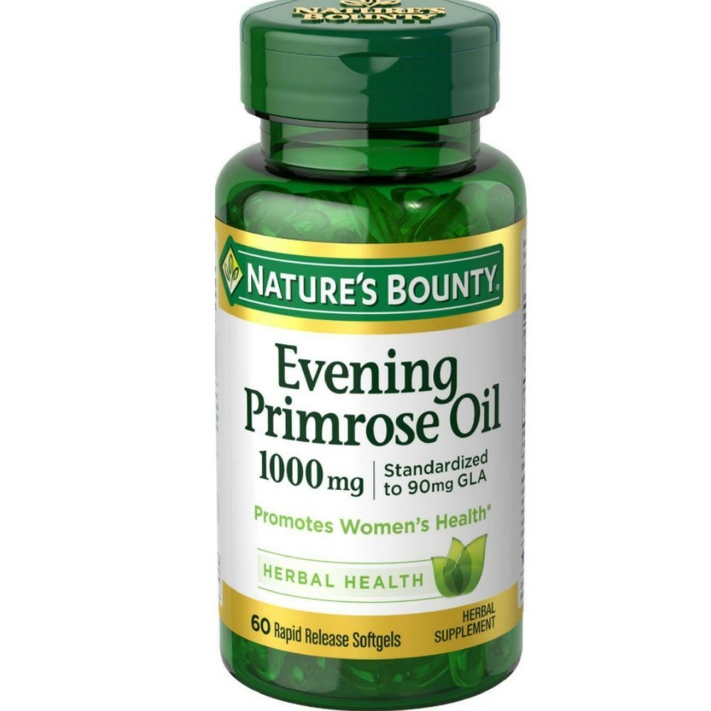 Nature s Bounty Evening Primrose Oil 1000 mg Softgels 60 ea Pack of 12