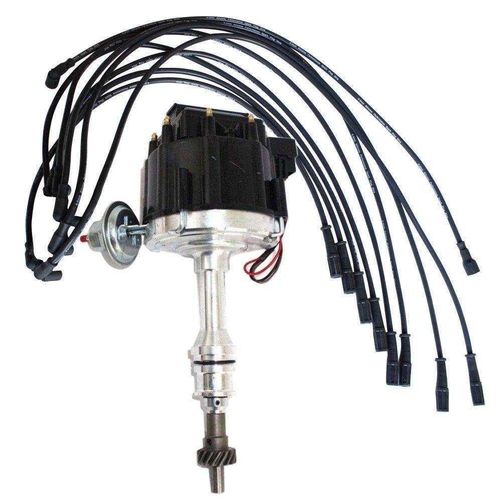 For Big Block Ford 351c 460 Hei Distributor 95mm Black 440 Wiring Diagram Straight Spark Plug Wire Automotive