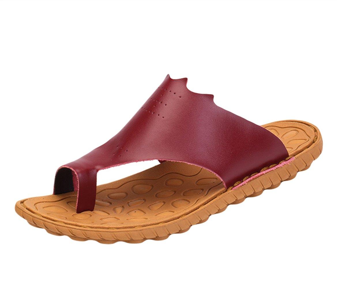 Insun Hombres Sandalias Chanclas Cuero Zapatos Al Aire Libre 40 EU Rojo