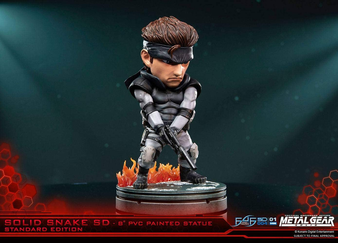 Color no aplicable. MGSSSSDST SD Solid Snake Figura First4Figures First4Figures-Solid PVC Metal Gear