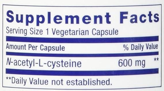 Life Extension N-Acetyl-L-Cysteine NAC – 60-600mg Veggie Caps