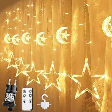 Details about  /LED Lichternetz Luci Pendenti 12 Ventosa Timer 160 LED ´ S Catena Luci Rete