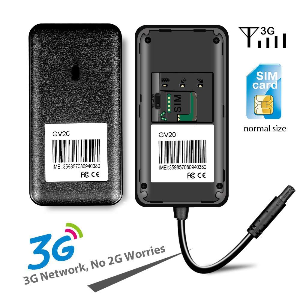 3G GPS Tracker per Auto Jimi GV20 Mini Localizzatore GPS Auto Impermeabile Dispositivo di Localizzazione monitoraggio in tempo reale globale localizzatore oggetti servizio della piattaforma a vita