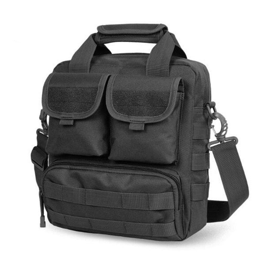 Outdoor Messenger Bag Camouflage Männer und Frauen Multi-Funktions-Umhängetasche Camouflage Bag wasserdichte tragbare gerade Reise, schwarz
