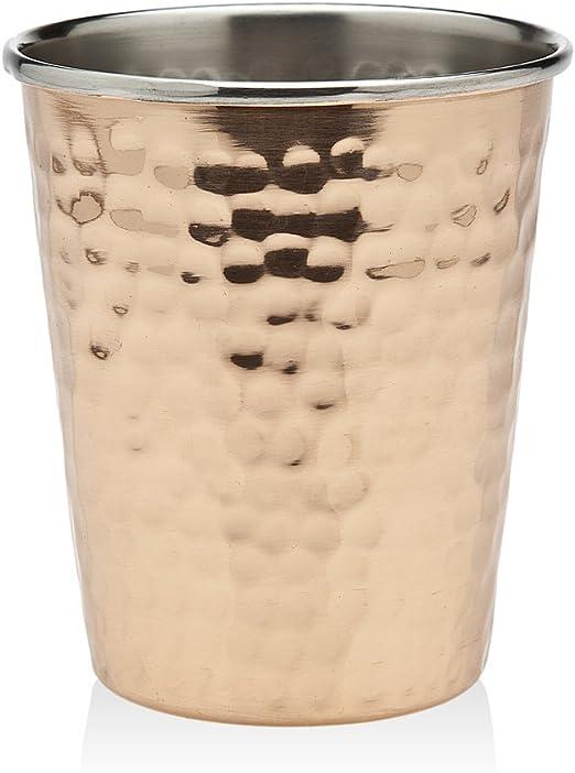 Copper 3.25 Godinger Hammered Beaded Mint Julep Cup