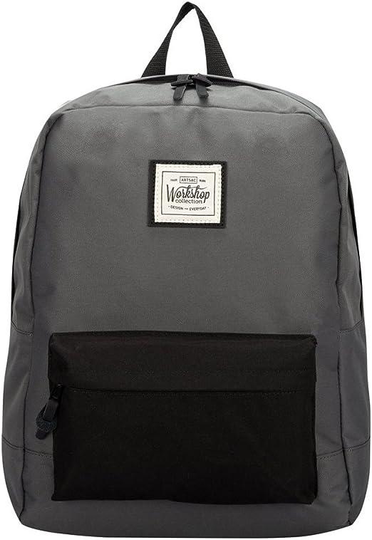 Artsac Workshop Front Pocket Backpack in Grey and Black