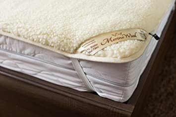Merino Wool Mattress Protector Pad Wool Sheet Woolmark Certified!! Reversible Mattress Topper Luxury &
