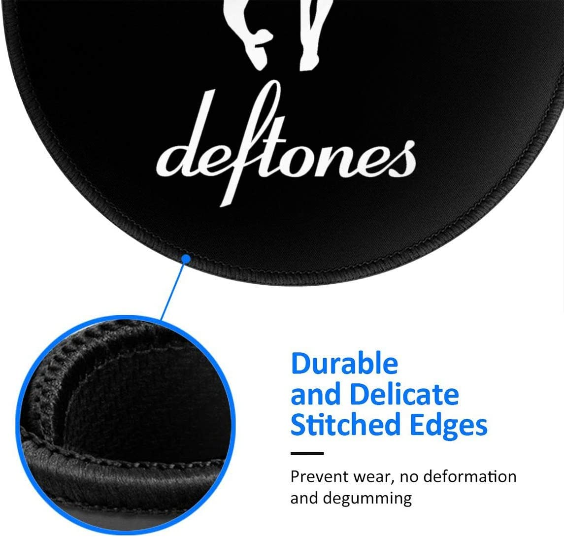 Dahl Deftones Rubber Round Mouse Pad 7.9x7.9 Inches Non Slip Perfect for Working and Gaming